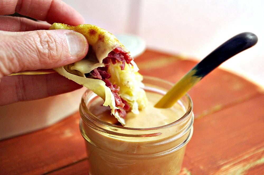 Reuben Eggrolls | Dixie Chik Cooks