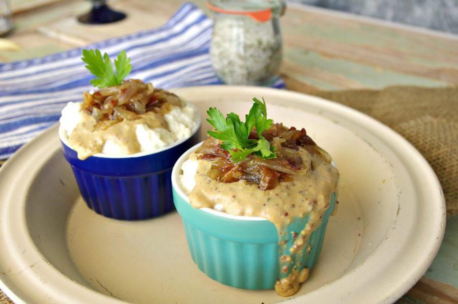 Mashed Cauliflower with Dijon Gravy | Dixie Chik Cooks