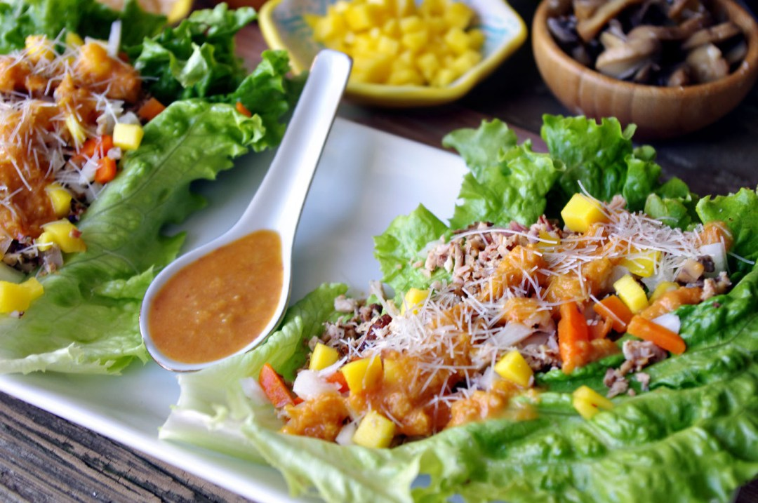 Smoked Chicken Lettuce Wraps