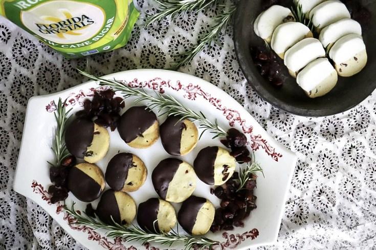 Cran-Rosemary Shortbread Cookies