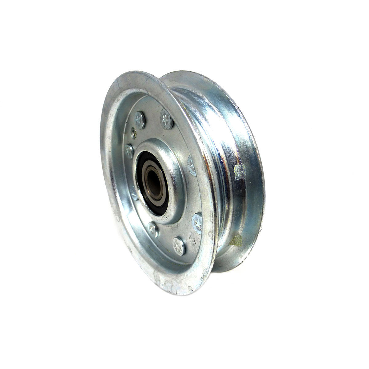 hight resolution of 200239 dixie chopper flat idler pulley w center hub 3 75