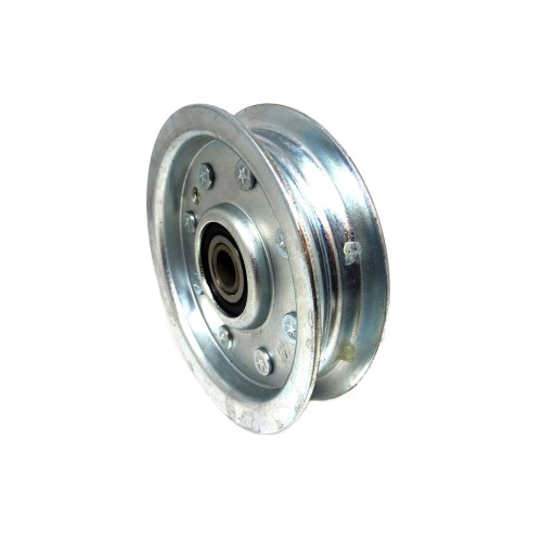 small resolution of 200239 dixie chopper flat idler pulley w center hub 3 75