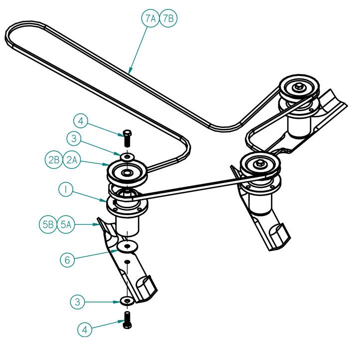 Dixie Chopper 2014 Zee 2 HP Mower Spindle/Deck Belt