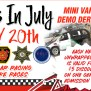 Christmas In July First Time Ever Mini Van Demo Derby