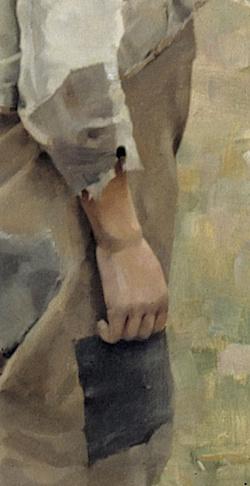 Akseli_Gallen-Kallela_pojke_kraka_hand