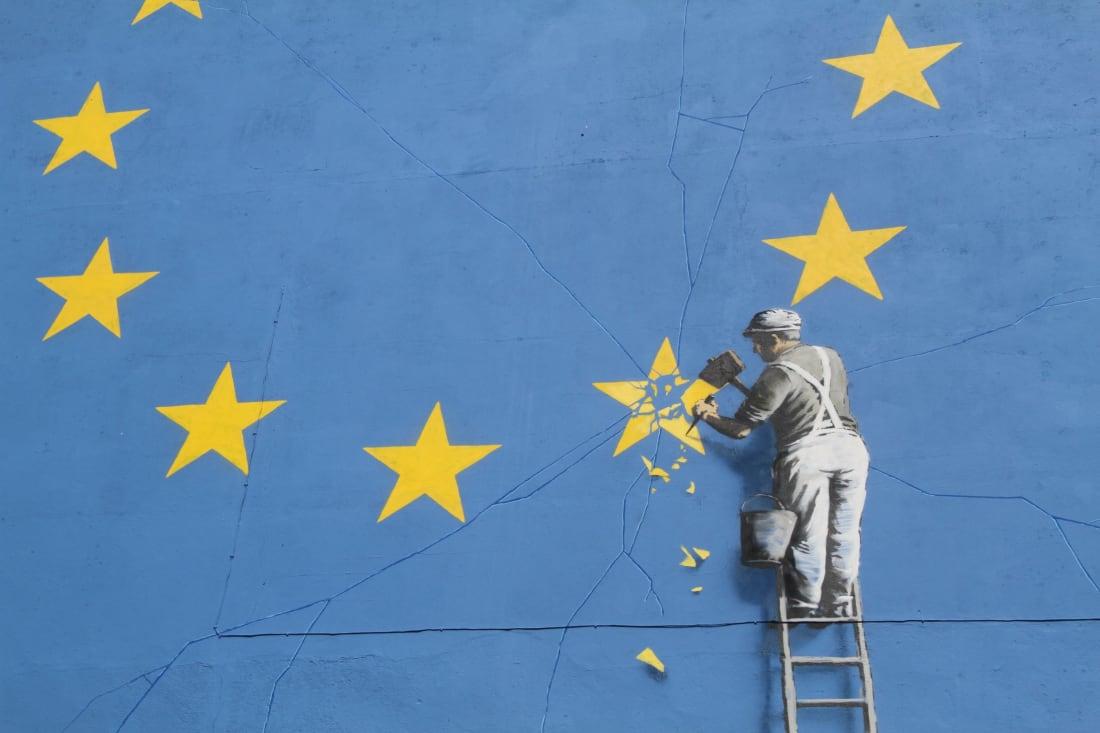 Muralmålning av Banksy