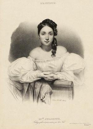 Porträtt av Juliette Drouet