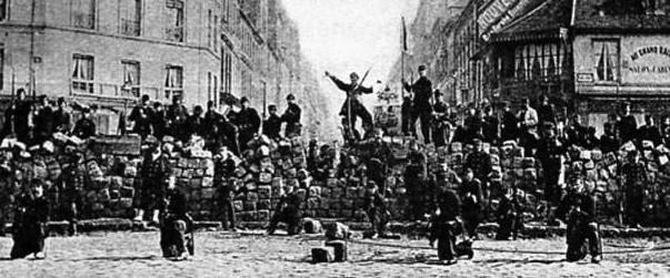 Barrikader i Paris 18 mars 1871
