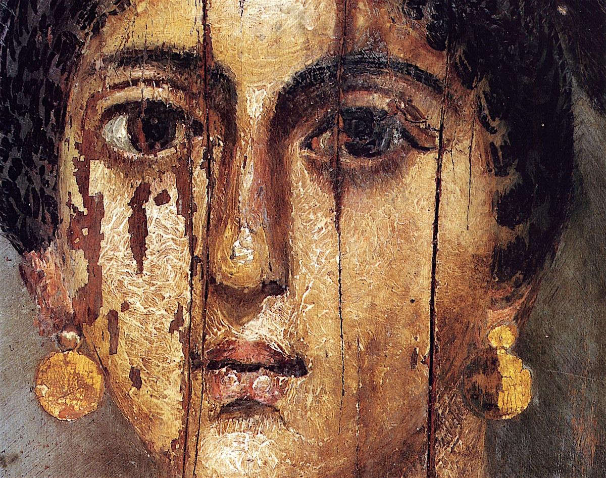 Ett egyptiskt mumieporträtt från samlingarna på Petrie Museum