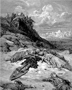 Gustave Doré - Barbarossas död under det tredje korståget