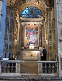 En mer rättvisande bild av hur smalt sidokapellet är