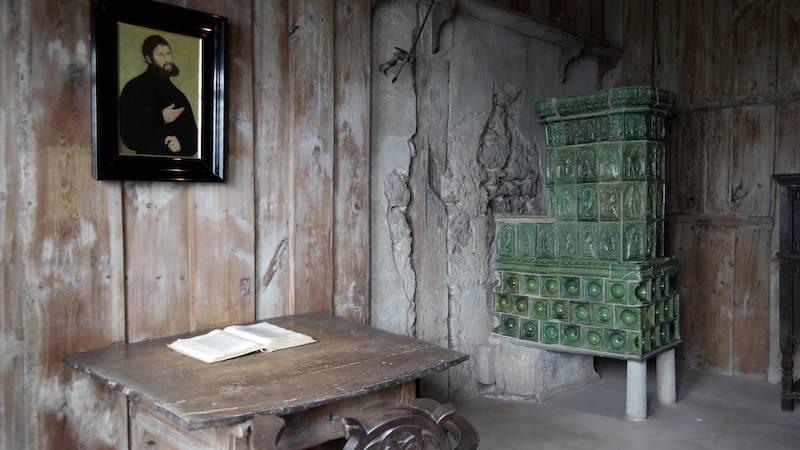 Luthers rum i Wartburg där han översatte Nya testamentet