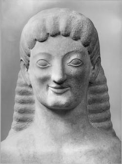 Arkaiskt leende - en kouros från Tenea
