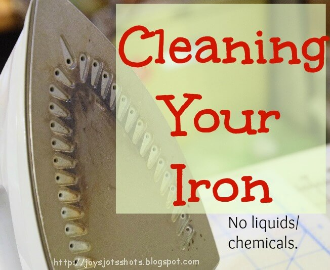 How to clean your iron without chemicals