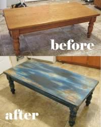 Aqua Table Distressing Project - Fun And Fabulous!