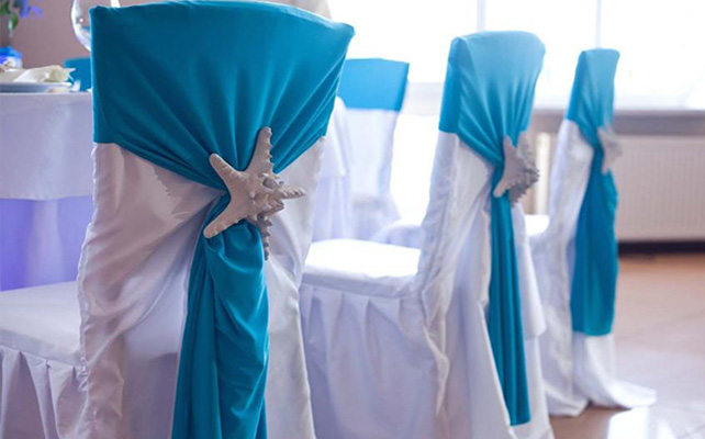 starfish wedding chair decorations fold out sleeper 17 beach decor ideas - ceremony and reception
