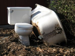 removing a toilet