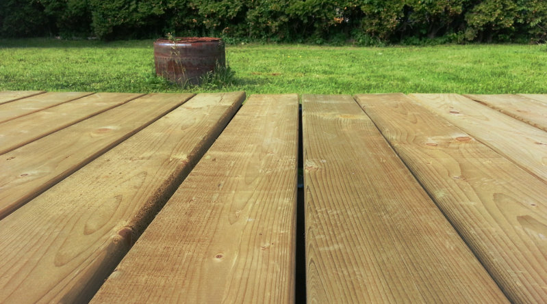 lay decking on soil