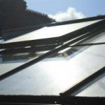 cleaning glass or polycarbonate roof