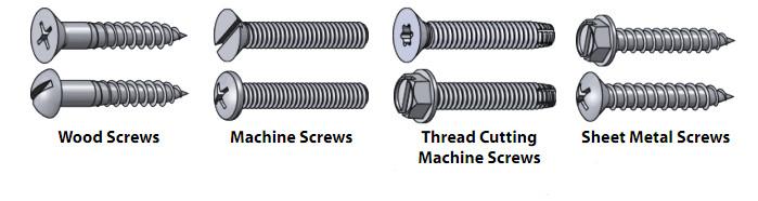 types of screw