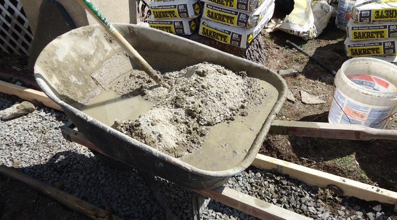 small bag of concrete