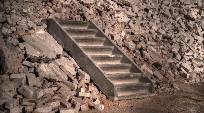 repairing concrete steps