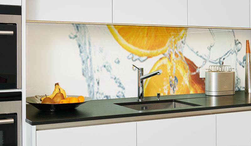 Kchenrckwand aus Glas  KchenrckwndeGlas  DIYGlas