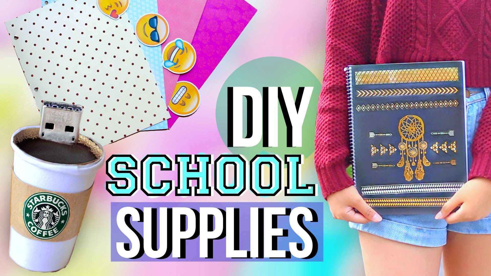 DIY Back To School Supplies And Organization