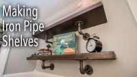 How To Make Industrial Iron Pipe Shelves | diy.fyi