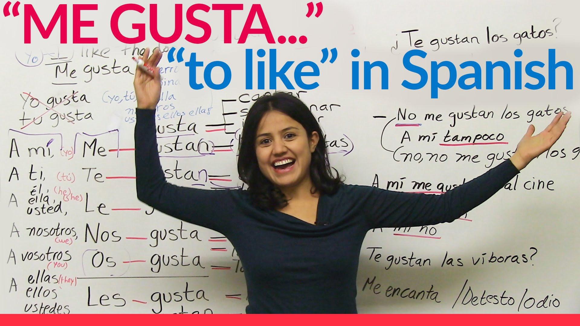 Me Gusta To Like In Spanish