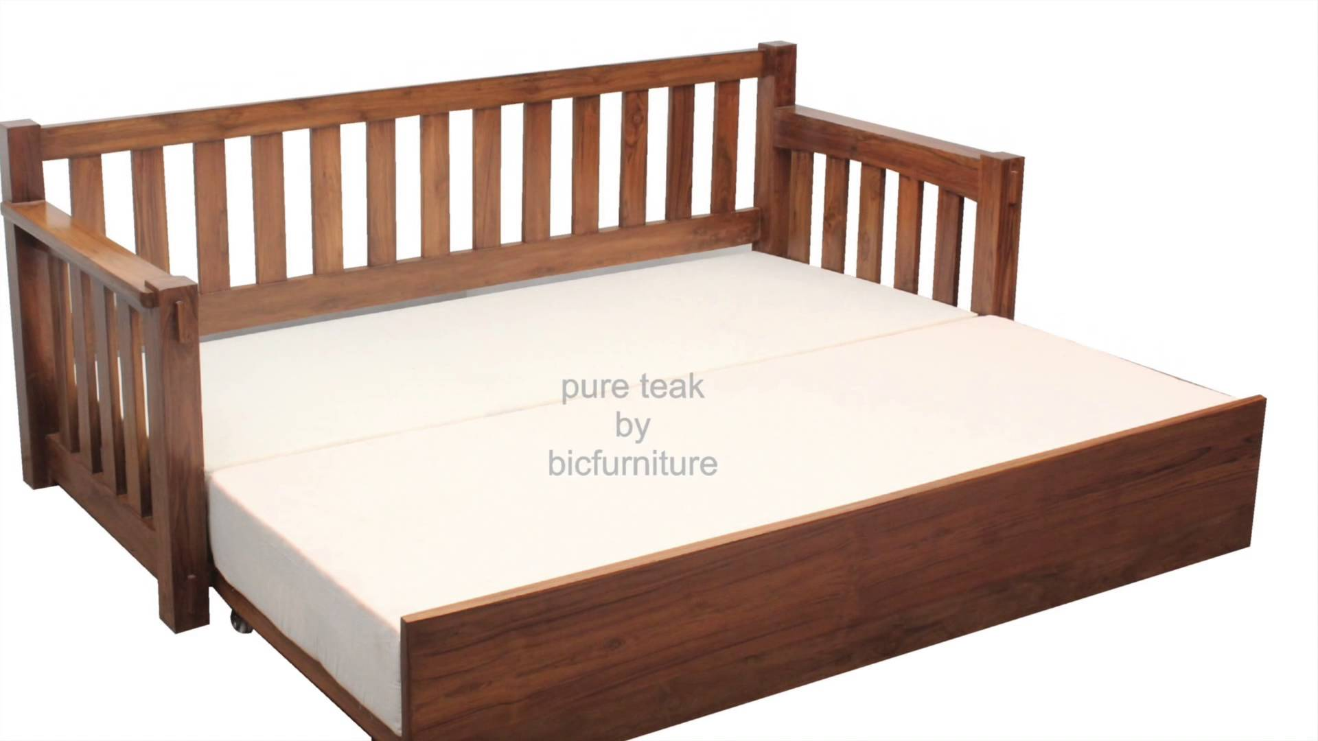 sofa pull out bed frame fatboy singapore wood futon solid new bi fold