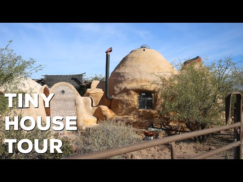 Unique Off Grid Earth Bag Tiny House Tour  Bisbee Arizona  diyfyi