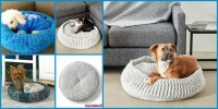 diy4ever-Cozy Crochet Pet Bed - Free Pattern