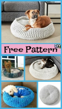 Cozy Crochet Pet Bed - Free Patterns