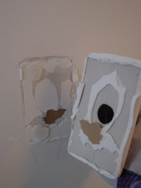 DIY Removing the ceramic towel bar and toilet paper holder ...