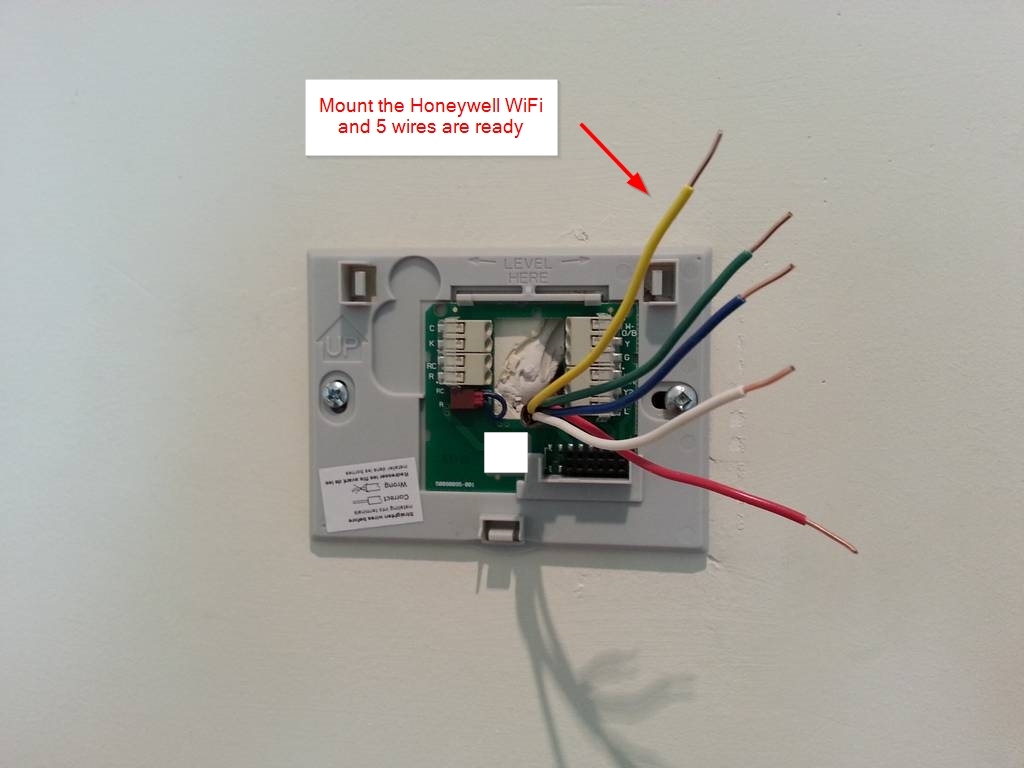 honeywell humidifier he365 wiring diagram pig anatomy diy installation  wifi thermostat rth9580wf and