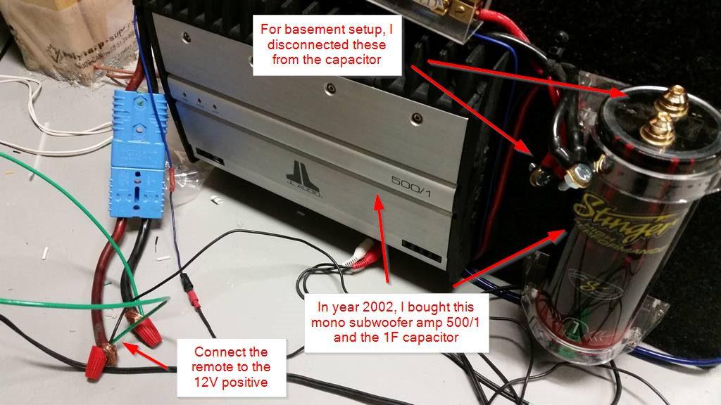 Car Audio Capacitor Wiring Diagram Diy Mancave Using Computer Power Supply For Car Audio Jl