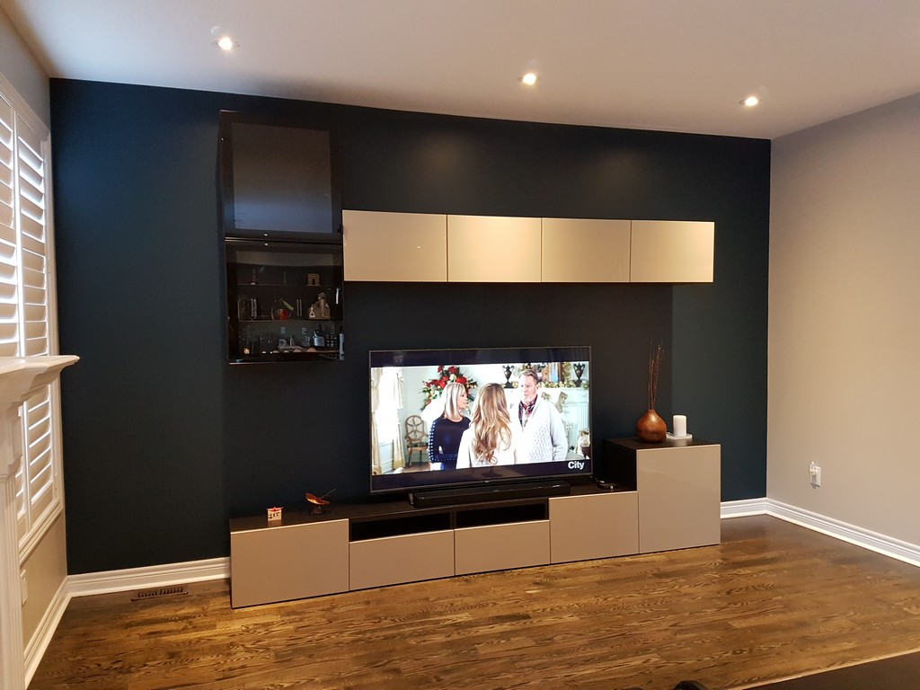 DIY Family room makeover using IKEA BEST wall units