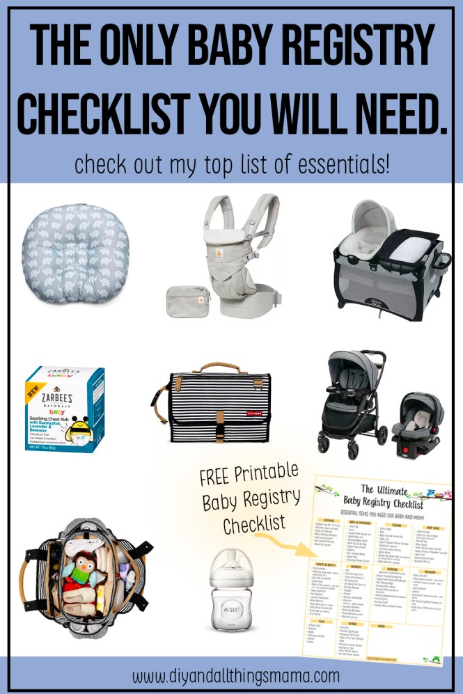 List Of Must Have Baby Items Baby Registry