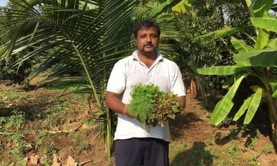 Madhucharan Chikkadebaiah at his Organic Fam