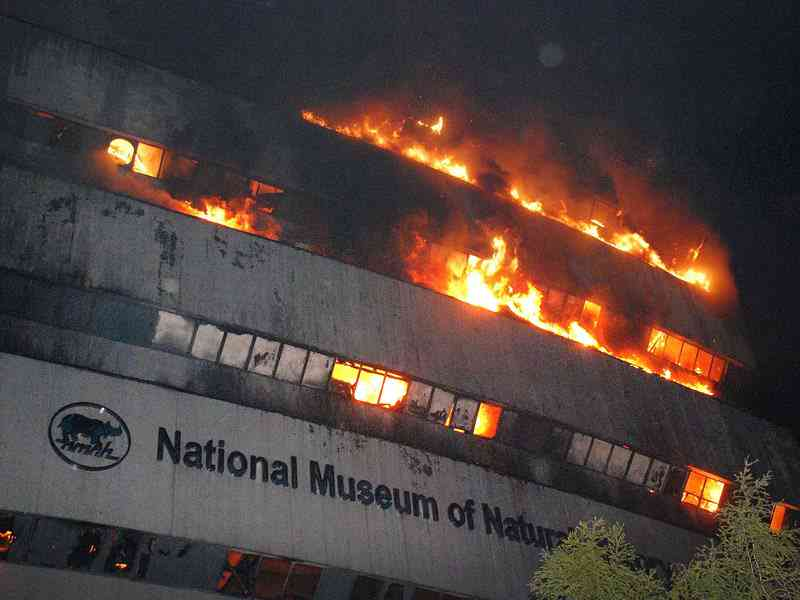 Fire destroys New Delhi's National Museum of Natural history