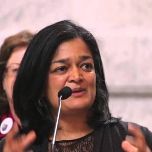 Pramila Jayapal and Raja Krishnamoorthi challenge Trump and Republican Hindu Coalition