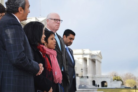 Washington Lawmakers hold vigil on Capitol steps to honor Srinivas Kuchibhotla