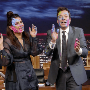 Priyanka Chopra plays holi with Jimmy Fallon on Fallon Tonight