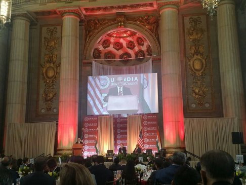 Adi Godrej receives the Global Leadership Award, applauds USIBC for advancing economic ties between US and India,  Andrew W. Mellon Auditorium in Washington D.C.