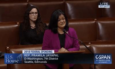 Washington Democratic Senator Pramila Jayapal challenges Alaska Republican Senator Don Young's House Floor comments