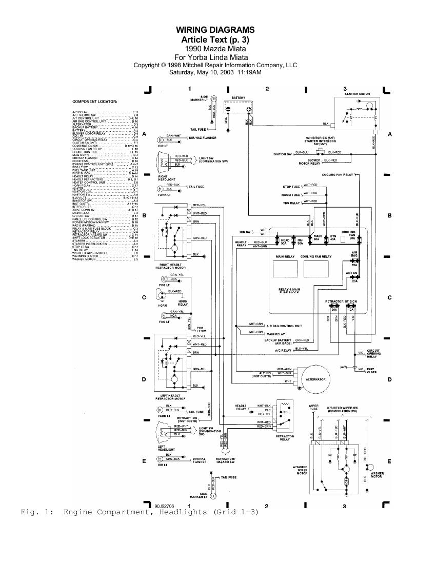 1991 Miata Battery Wiring Diagram