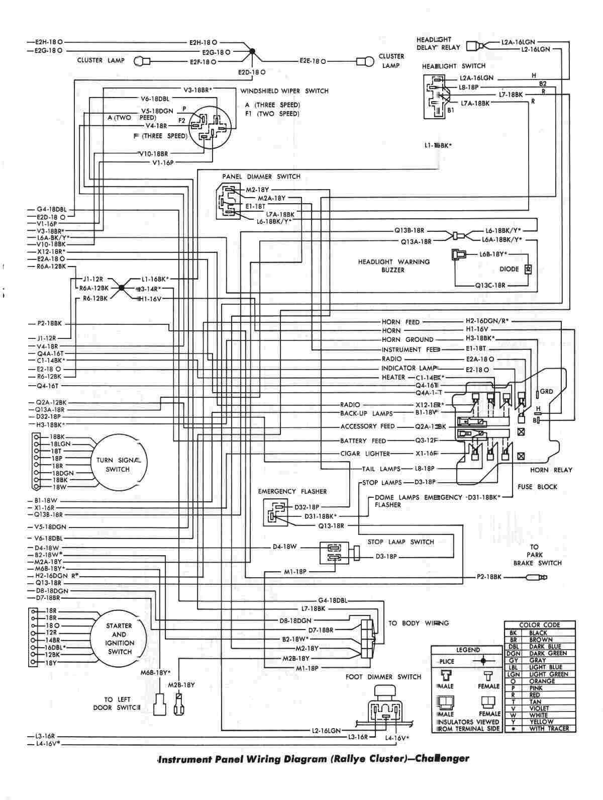 dodge electronic ignition wiring diagram nissan 240sx fuel pump 1975 w100 1971