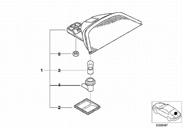 How to remove the center brake light (3rd brake light