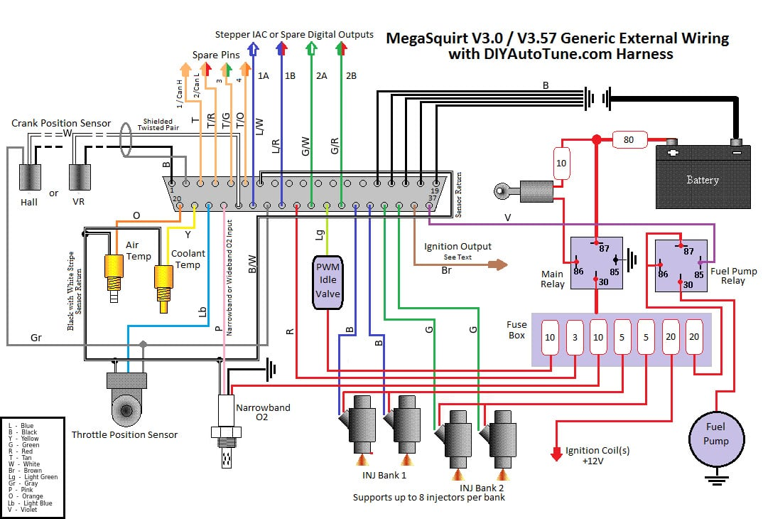 megasquirt 3 wiring diagram mega diagrams and information hifonics hfi12d4 10 electronic fuel injection harness ms1 ms2 basic
